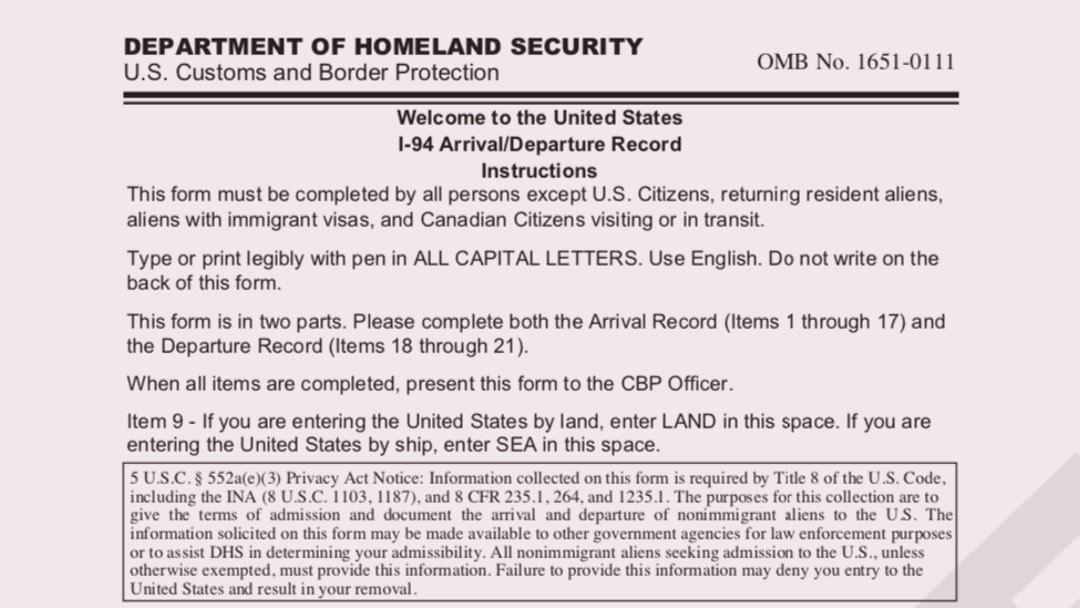 I 94 Record Goes Alphanumeric Berardi Immigration Law